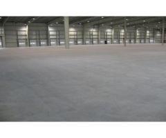 Промышленные бетонные полы, шлифовка бетона