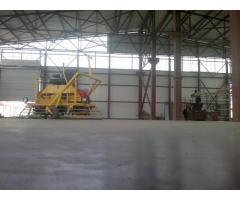 Промышленные бетонные полы, шлифовка бетона, обеспыливание