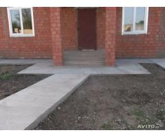 кладка кирпича, бетонные работы