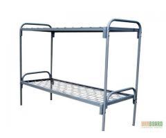 Металлические кровати с ДСП спинками для больниц.