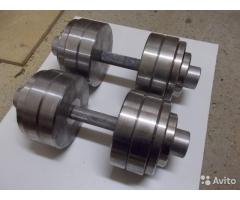Продам 3 пары разборных гантелей 2 по 15, 2 по 20 и 2 по 30 кг.