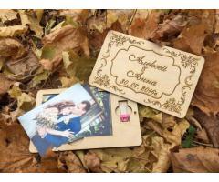 Свадебные аксессуары из дерева и акрила