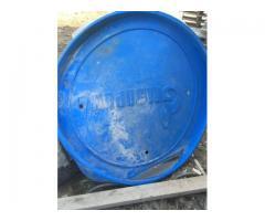 Крышки для труб(синие Газпром)