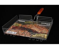 Решетка для барбекю шашлычная гриль широкая
