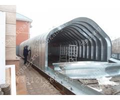 Производство и установка бескаркасных ангаров