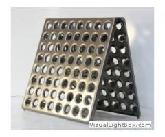 Плитка для пола металлическая перфорированная