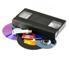 Оцифровка видеокассет на внешние накопители.